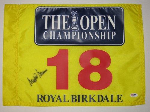MARK O'MEARA Signed Royal Birkdale BRITISH OPEN Golf Flag PSA DNA Pga