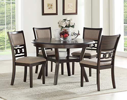 New Classic Furniture D1701-50S-CHY Gina Round Dining Set, - Cherry Room Sets Dining