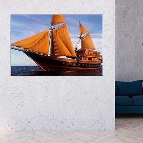 Tela Decorativa Barco a Vela