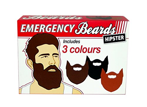 Gift Republic GR450025 Emergency Beards, Multicolor ()