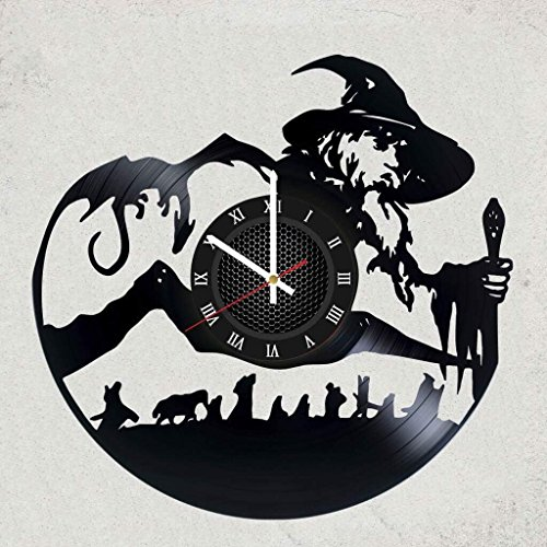 LORD OF THE RINGS VINYL RECORD WALL CLOCK - Size of the record is 12 inches - Best gift idea for men - LORD OF THE RINGS - merchandise gifts for kids bedroom decor