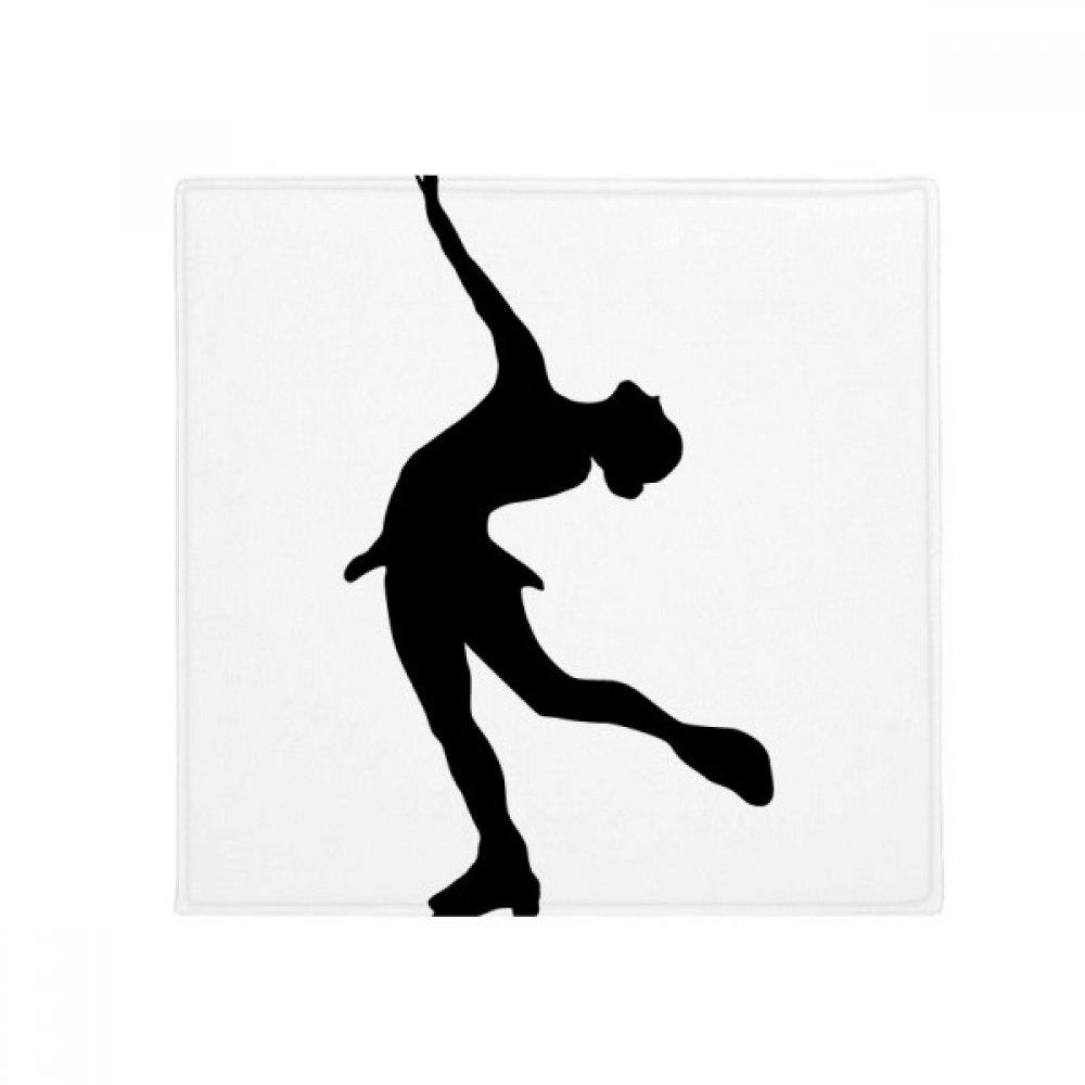 DIYthinker Winter Sport Silhouette Female Skating Anti-Slip Floor Pet Mat Square Home Kitchen Door 80Cm Gift