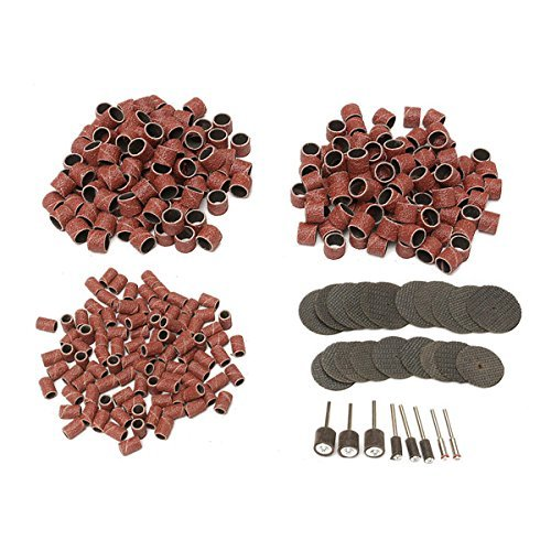 CHUNSHENN ホイールディスクとマンドレルを切断326pcs 80Gritドラムサンディングキットを用いて樹脂 研磨用 研磨工具