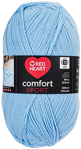 RED HEART  Comfort Sport Yarn, Light Blue