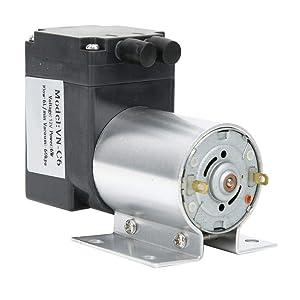 Vacuum Pump, VN-C6 Vacuum Vacuum Suction Pump with Stand -60kpa 5W 7L / min DC12V / DC24V, Noise: <60 dB, Outside with 10mm air Pipe, Suction Pump Mini Vacuum Pump(DC12V)
