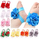 Artempo Baby Foot Band, Barefoot Sandals Flowers Feet Accessories (Set of 12)