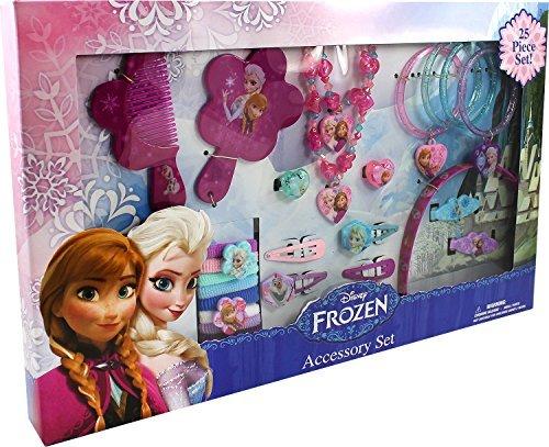 Disney® Frozen 25 Piece Princess Anna and Elsa Accessory Set Necklace Bracelet Hair Clips