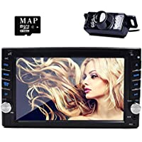 GPS Navigator Car Auto radio 2 DIN In Dash Car DVD Player LCD Touch Screen MP3/MP4/USB/SD/AM/FM Radio/Bluetooth/Stereo/Audio Map Backup Camera