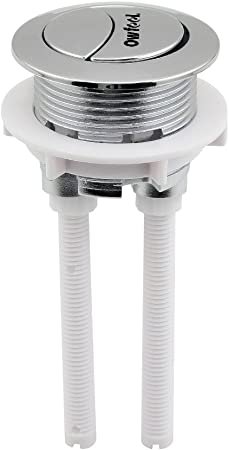 Alovexiong 48mm Toilet Button,Toilet Tank Button Dual Push Flushing,Toilet Tank Button Lever Toilet Button Replaced Flush Button with Thread Diameter