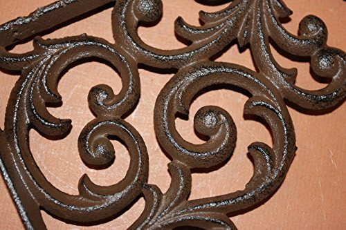Southern Metal Set of 6 Victorian Shelf Brackets Solid Cast Iron Ornate Scroll Corbels, 9 1/4'' x 7 3/4'' Volume Priced, B-23 by Southern Metal (Image #3)