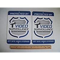 2 Video Surveillance Security System 7x10 Metal Yard Signs - Stock # 715