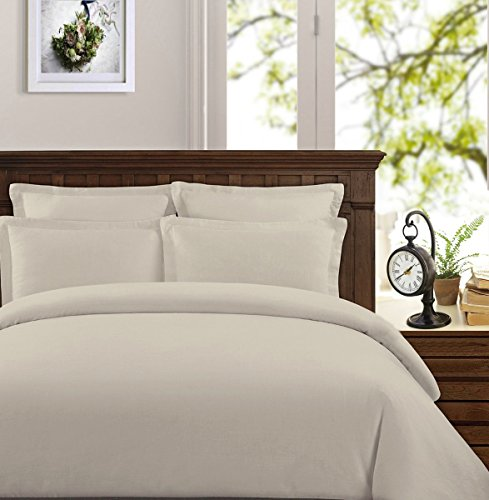 Peru Pima - 285 Thread Count - Percale - 100% Peruvian Pima Cotton - Duvet Cover Set (Ivory, King/Cal King)