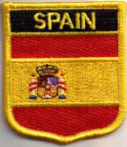 Parche Bordado Bandera España con escudo de armas - 7 x 6 cm ...