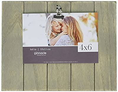 Pinnacle Frames and Accents Farmhouse Pallet Wood Shiplap Clip Tabletop Picture Frame Grey