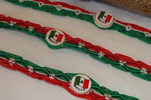 Mexican Set Bracelet - Five Mexico Flag Friendship Bracelets Mexican Color Tricolor Set Pack Red, Green, White