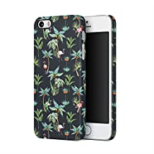 Flamingo Birds Palm Trees Tropical Jungle Aloha Hawaii Hype Exotic Pattern Tumblr Apple iPhone 5, iPhone 5s, iPhone SE Plastic Phone Protective Case Cover