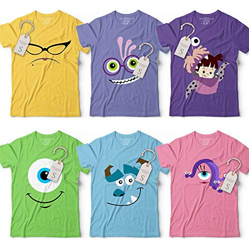 Cute Monsters Uni Mike-Sulley-Roz-Randall-Celia Characters Halloween Group Family Costume Customized Handmade Hoodie/Sweater/Long Sleeve/Tank Top/Premium T-shirt]()