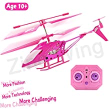 10 Year Old Girl Gifts, Pink Remote Control Helicopter Airplane Hoverboard Toy Box for Girls Kids Indoor Mini Rc 3.5 Channel Remote Radio Gyro Control Helicopter Toy Birthday Holiday Gifts Giving Presents
