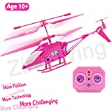 #8: 10 Year Old Girl Gifts, Pink Remote Control Helicopter Airplane Hoverboard Toy Box for Girls Kids Indoor Mini Rc 3.5 Channel Remote Radio Gyro Control Helicopter Toy Birthday Holiday Gifts