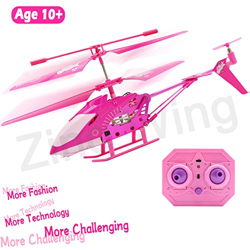 Mini Rc Helicopter Review - 10 Year Old Girl Gifts, Pink Remote Control Helicopter Airplane Hoverboard Toy Box for Girls Kids Indoor Mini Rc 3.5 Channel Remote Radio Gyro Control Helicopter Toy Birthday Holiday Gifts