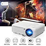 """200"""" Home Theater Projector 1080p 720p, Video Projector Full HD 3900 Lumens 50,000hrs LED Lamp, Indoor Outdoor Movie Projector for iPhone Smartphone TV DVD Xbox PC Laptop Blue Ray Player"""