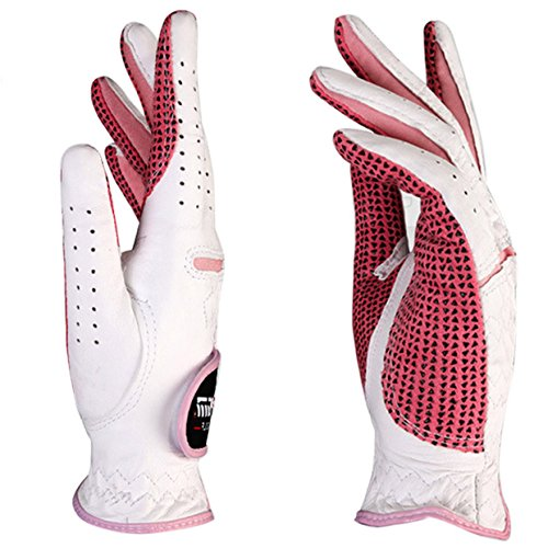 Women Luxury Golf Gloves For Both Hands Cabretta Leather Lady Golf Glove - Size S to 2XL