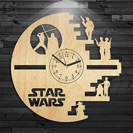 Amazon.com: Reloj de pared Vintage, star wars regalo para ...