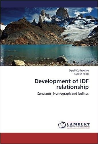 Development of IDF relationship: Constants, Nomograph and Isolines