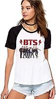Camiseta Feminina Raglan Kpop BTS ES_101