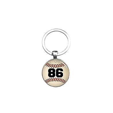 Número 86 cadena de clave de Béisbol Jugador de béisbol ...