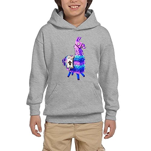Anzhuzhen Full Zip Hoodie, Cotton Sweater Llama for-tnite Hoodies for Boys Kids Teen Girls by Anzhuzhen