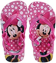 Josmo Kids Disney Minnie Mouse Flip Flop with Backstrap - Pink - Sizes 5-12 - Toddler Girl