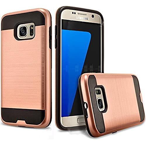 Galaxy S8 Edge Case, 2-Piece Style Hybrid Shockproof Hard Case Cover + Circle(TM) Stylus Touch Screen Pen[Rose Gold] Sales