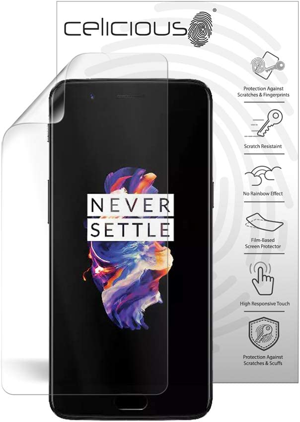 Celicious Privacy Plus 4-Way Anti-Spy Filter Screen Protector Film Compatible with OnePlus 6