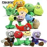 PVZ Plants vs. Zombies Plush Toys Peashooter Snow Pea Soft Stuffed Dolls 14pcs/set