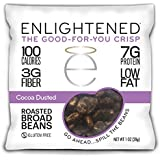 Enlightened Plant Protein Gluten Free Roasted Broad (Fava) Bean Snack, Cocoa Dusted, 48 Count