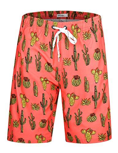 (APTRO Board Shorts Mens Swimwear Beach Shorts Bathing Suits Trunks DZSK Hwp021 L)