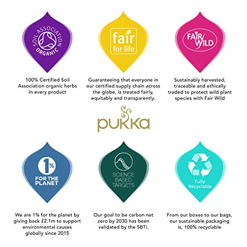 Pukka Herbs Support Selection Gift Box, Collection of Organic Herbal Teas, 45.0 Count