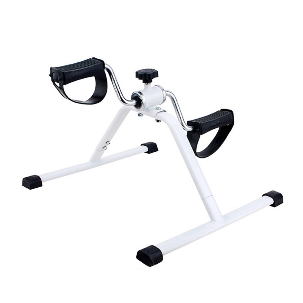 EDTara Lightweight Mini Pedal Exerciser Leg Exercise Pedal Leg Exercisers Fitness Exercise Bike, White