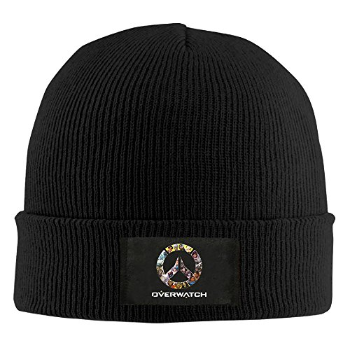 NaDeShop Overwatch OW Logo Knit Cap Woolen Hat For Unisex Black