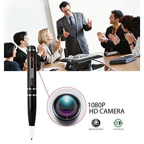 Hidden camera with 16GB GSmade Full HD 1080P Spy Pen Camera