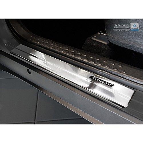 4 Piezas Auto Style 2//23010 INOX Protectores de umbral de Puerta C-HR 2016-Exclusive