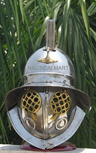 ROMAN GLADIATOR HELMET MEDIEVAL ARMOR WEARABLE HELMET by NAUTICALMART
