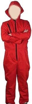 codice L Abito Adulto in Sala di Carta di Lino Rosso Costume La Casa De Papel casa di Carta per Costume da Ladro Costume da Festa in Maschera di Halloween