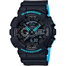 Casio G-Shock Black Dial Mens Multifunction Two Tone Watch GA110LN-1A
