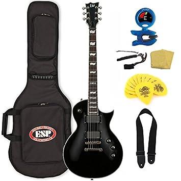 Esp Ltd EC-401 guitarra eléctrica (con funda), color negro: Amazon.es: Instrumentos musicales