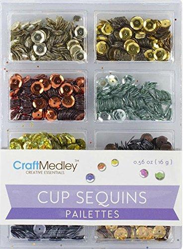 Craft Medley Cup Sequins Pailettes, Dazzling Metallics