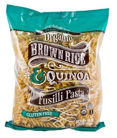 Trader Joe's Organic Brown Rice & Quinoa Fusilli Pasta (Gluten - Pasta Brown Rice Organic