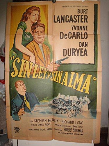 Original Argentine Movie Poster Criss Cross Burt Lancaster Yvonne De Carlo ()