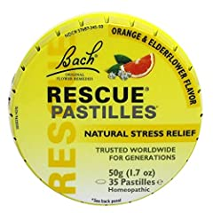 Bach Rescue Remedy Natural Stress Relief Pastilles Original Flavor 1.7 oz (Packaging may Vary)
